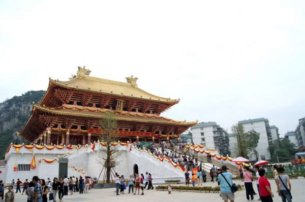 """A Temple of the God of Culture (文庙 wénmiào) in Liuzhou, Guangxi, where Confucius is worshiped as Wéndì (文帝), """"God of Culture"""""""