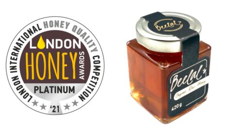 Beelal Honey was awarded the Platinum honor at the 2021 London International Honey Quality Competition.