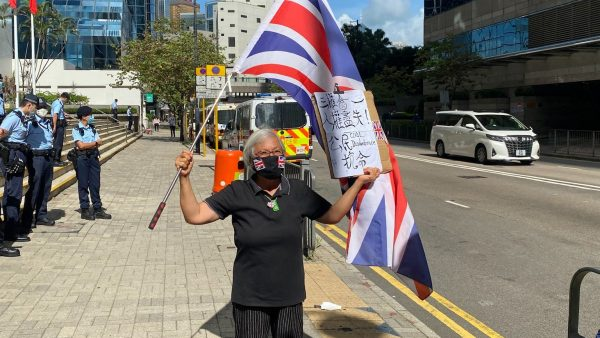 """Wong Fung Yiu protested alone in place of the Tiananmen memorials and was arrested by Hong Kong Police for """"unlawful assembly"""" on May 30."""