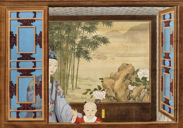 'Prince Hongli as a child,' the Palace Museum in Beijing.