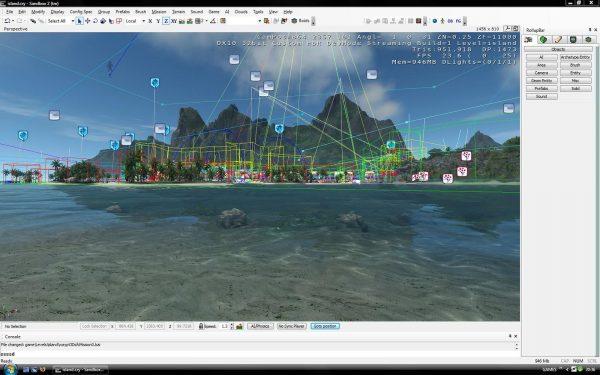 Screenshot from the CryEngine sandbox editor 2007.