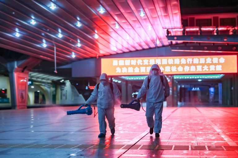 The Shijiazhuang railway station was empty during the spring festival travel season because of COVID-19 on Jan. 27, 2021 in Shijiazhuang, Hebei, China.