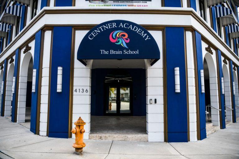 Center Academy private school building is seen in Miam's Design District in Miami, on April 27, 2021.