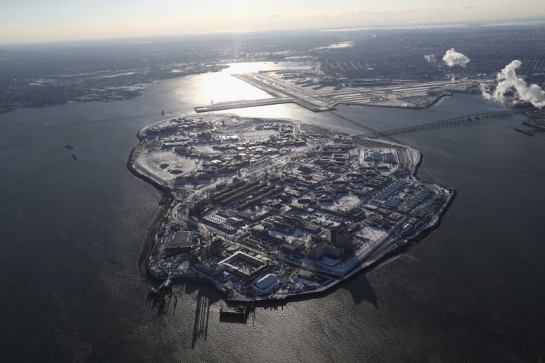 Rikers Island on January 5, 2018 in New York City. Conditions at the prison have degenerated from a law enforcement and corrections facility to a state of chaos, according to a report by the New York Times relying on interviews with anonymous prisoners and staff.