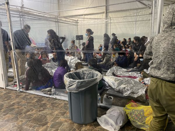 Images showing migrants in close quarters at the temporary Donna immigration facility in Texas. Positive COVID-19 cases, as well as sexual and physical assaults, were reported by whistleblowers.