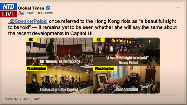 Screenshot of Rep. Joaquin Castro's (D-TX) presentation on Feb. 11. Castro claimed President Trump humiliated America because Chinese Communist Party spokespersons and propaganda departments seized on the event to retaliate for America's support of the 2019 Hong Kong Democracy protests.