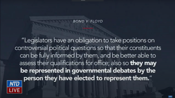 Michael van der Veen cited Bond v. Floyd where a State legislature punished an elected official for encouraging the burning of draft cards. The Supreme Court upheld his actions as First Amendment-protected political speech because officials are obliged to involve themselves in controversial topics as they represent their constituents.