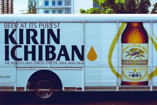 A Kirin Ichiban beer truck.
