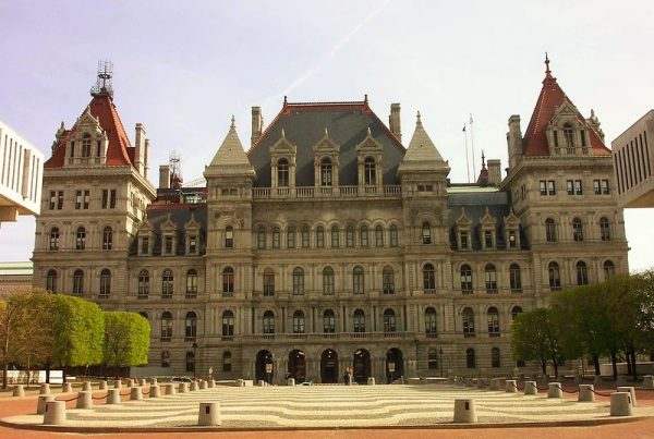 The New York State Capitol is the capital building of the U.S. state of New York. Housing the New York State Legislature, it is located in the state capital city Albany as part of the Empire State Plaza on State Street in Capitol Park.