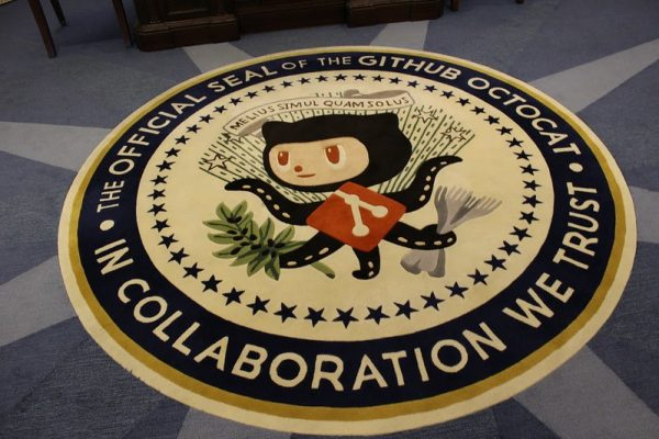 GitHub Octocat at GitHub's 'Oval Office'. GitHub was purchased by Microsoft in 2018 for $7.5 billion and is showing signs of being part and parcel to a modern variant of Microsoft's notorious 'Embrace, Extend, Extinguish' (EEE) strategy first found in the web browser antitrust cases.  Some are concerned this strategy will take form in Australia's news media if the software giant gets involved.