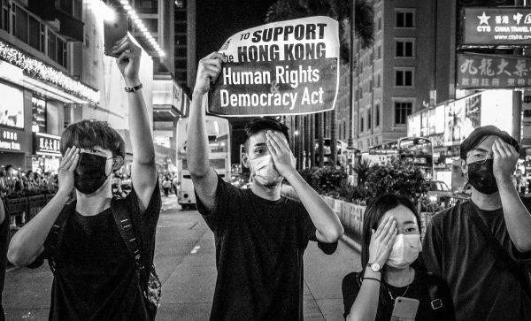Hong Kong protestors in the 2019 Hong Kong protests, also known as Anti-Extradition Law Amendment Bill Movement.