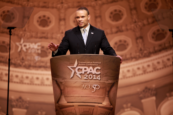 Dan Bongino speaking at the 2014 Conservative Political Action Conference (CPAC) in National Harbor, Maryland.