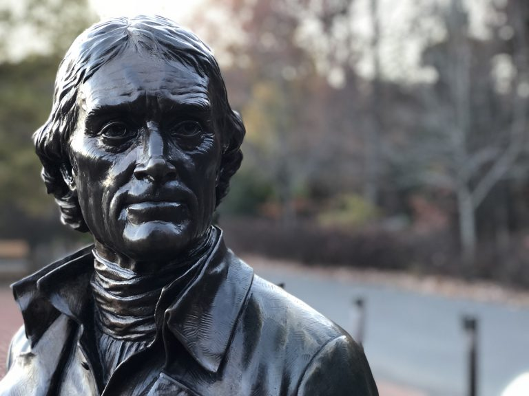 Thomas Jefferson's statue in the chambers of the New York City Council may soon be removed.